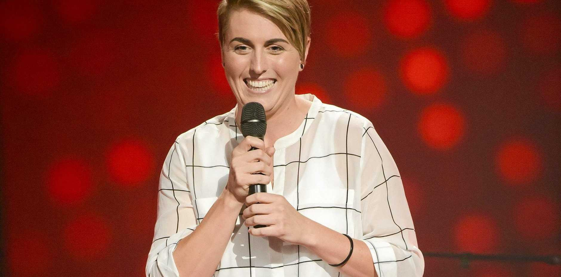 Grafton-born singer Kim Sheehy pictured during her blind audition on season five of The Voice Australia.