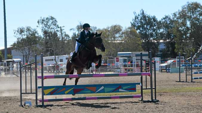 SHOWJUMPING: Shelby Emmerton on Miss Courageous at the Inter-School Darling Downs and South West Regional Championships.