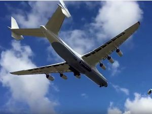 World's largest plane lands in Australia