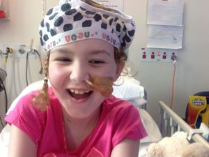 Ruby, 9, fighting cancer six years after mum's murder