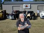 Fine Iron Rod and Custom Club Ipswich have a new shed. Club president Garry Halliwell.
