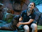 Moana, the 12 month old seal pup with Jess Heading ( Mammal manager) at SeaLife in Mooloolaba.  Photo: John McCutcheon / Sunshine Coast Daily