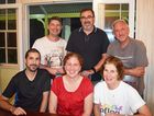 PFLAG MEMBERS: Jade Connor, Melanie Rose, Janet Berry, Jason Smith Mark Thornton and John Mitchell.