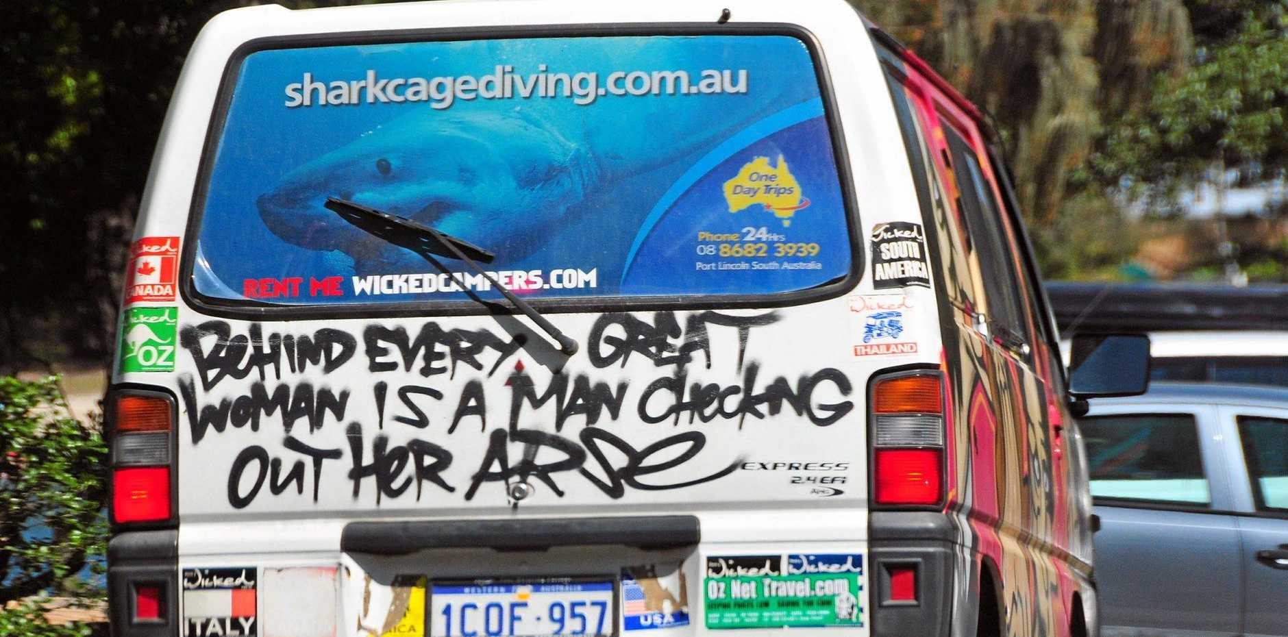 OFFENSIVE: Wicked Campers.