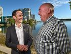 Opposition Shadow Finance Minister and Assistant Treasurer Dr Andrew Leigh visits the Sunshine Coast. Pictured with Labor's Fisher candidate Bill Gissane (right).