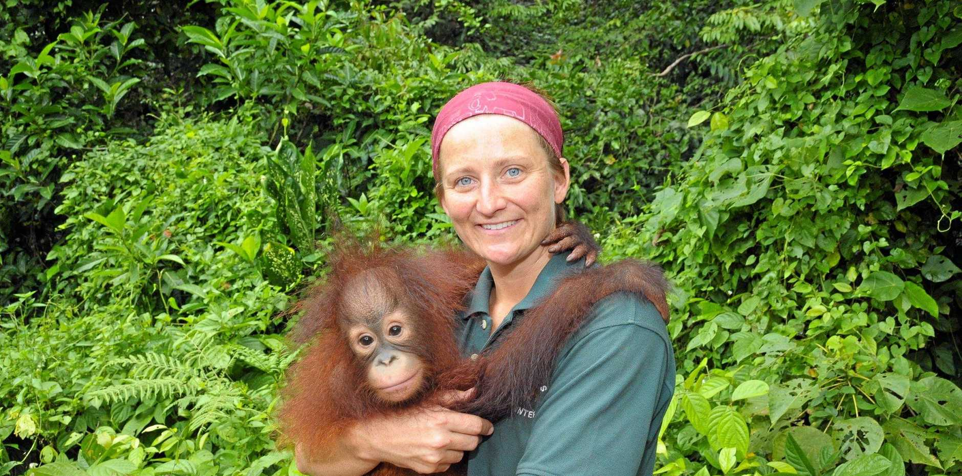Caroline Ladewig has been on several volunteering trips to Borneo where she helped rehabilitate orangutans.