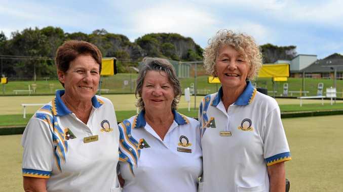Brunswick Heads team Judy Wright (skip), Jenny Meinel and Bev Gawned won the Tweed Byron District Women's Bowls Association Triples Championship at Cudgen.