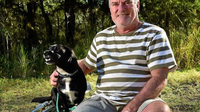 PAINFUL STEP: Gary Cocks had to go for surgery after he walked into a fishing knife on Moffat Beach which cut the tendon in his toe.