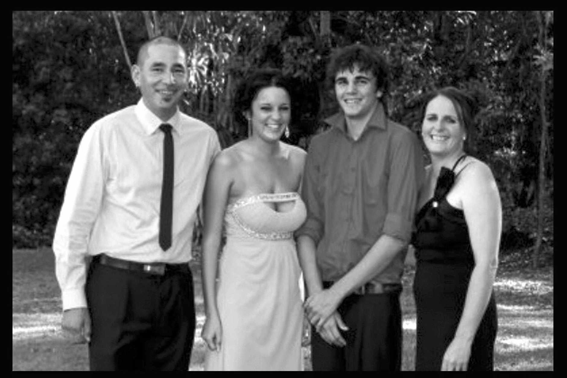 GYMPIE FAMILY: Carl Lowrie family with (second from left) Sharni Lowrei. Contributed