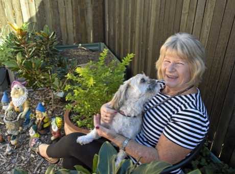 GOOD LIFE: Ralmae Case and her dog Maelee are very happy living at Oak Tree Retirement Village.
