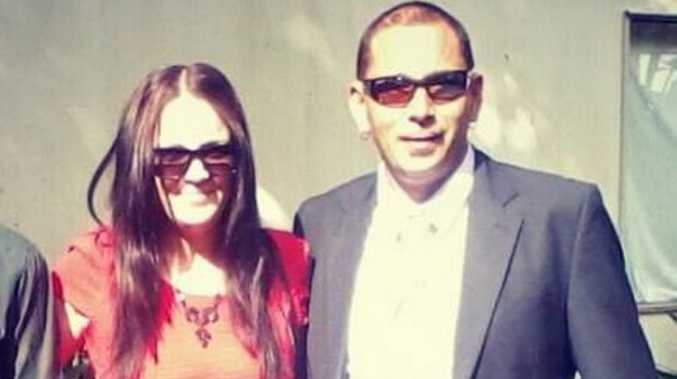 Sharni Lowrie with her father, security guard, Carl Lowrie who died suddenly at work on Sunday.