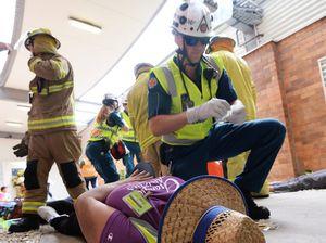 WATCH: Dozens of 'casualties' in Rockhampton Airport 'crash'