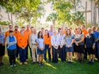 GOOD NEWS: Isaac Regional Council elected representatives welcome the 14 new trainees and apprentices.