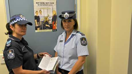 HELP AVAILABLE: Domestic and Family Violence project officer Acting Sergeant Susan Forte (left) is working with Acting Sergeant Leea Trewin make DFV victims feel safe.