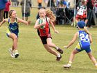 Qld Touch Junior State Cup - U/10 girls Hervey Bay Red V. Gold Coast B. Bree Lewis (Hervey Bay). Photo: Alistair Brightman / Fraser Coast Chronicle