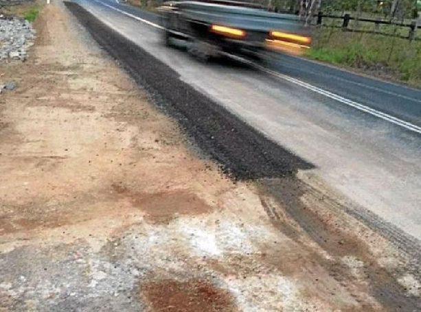 PATCHED UP: Residents are concerned a 50m stretch of Esk-Gatton Rd will begin eroding again due to the repair job.