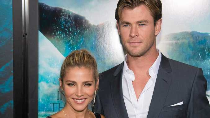 Chris Hemsworth, right, and Elsa Pataky attend the premiere of