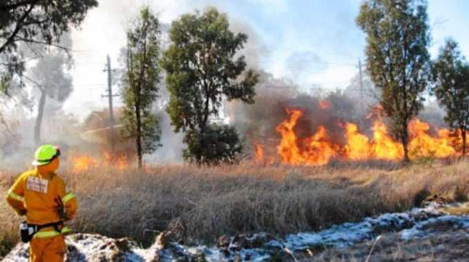 A controlled hazard redcution burn.