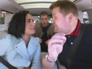 Demi Lovato and Nick Jonas in Carpool Karaoke
