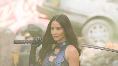 Olivia Munn in a scene from the movie X-Men: Apocalypse.