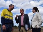 Stanmore Coal's managing director Nick Jorss meets with Mines Minister Dr Anthony Lynham and Premier Annastacia Palaszczuk ahead of the official opening for Isaac Plains coal mine. Photo: Emily Smith
