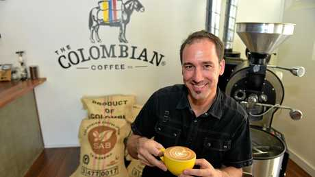 Jeremy Hyra from the Colombian Cafe in Mooloolaba has a new system for delivering fresh coffee beans.