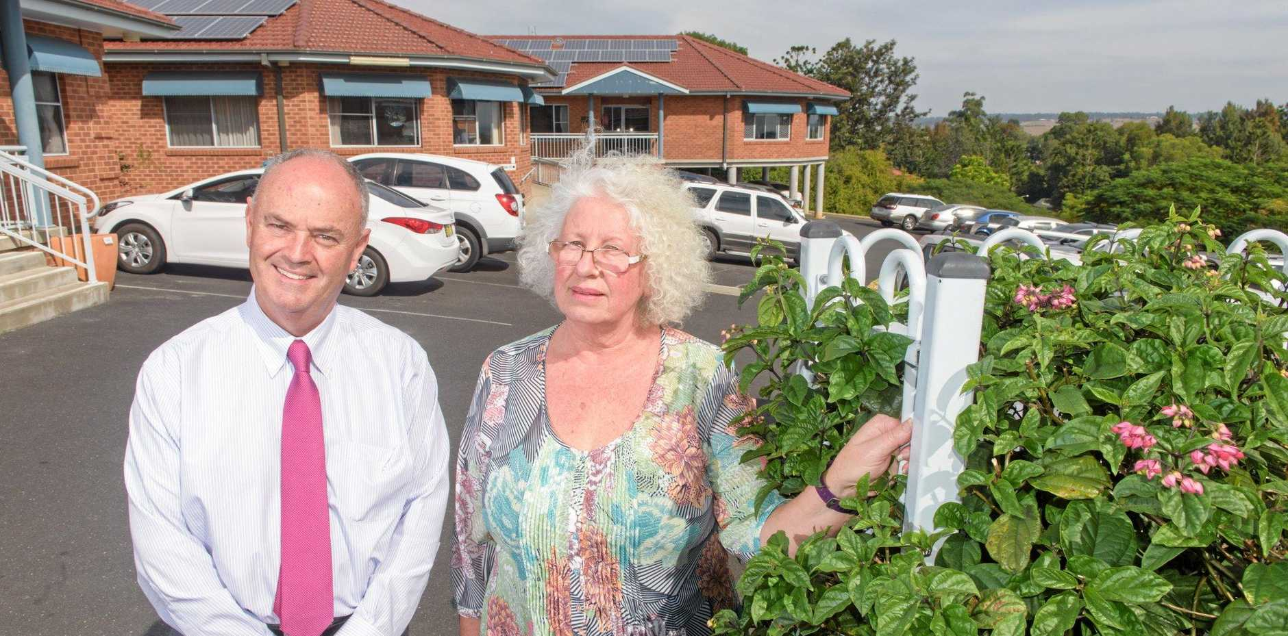 INVESTMENT NEEDED: Consultant business manager Kevin Dixon with Director of nursing Grafton Aged Care Home Julie Spicer.