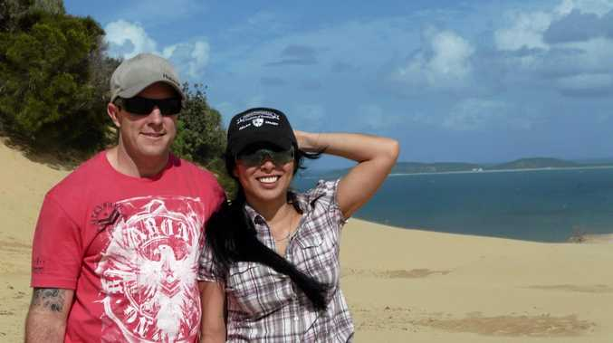 DEVASTATING: Hervey Bay's Chris and Angela Betts. Chris died while working in Iraq on May 12.