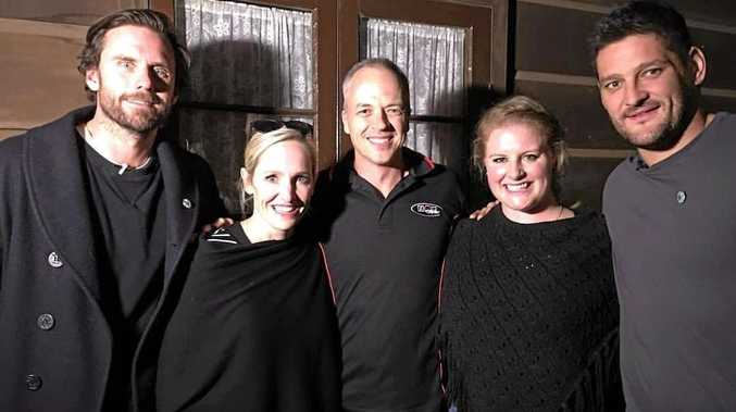 HAUNTED HOUSE: Experiencing the paranormal at the Royal Bull's Head Inn are (from left) Dave Thornton, Fifi Box, Hamish Carter, Gabi Elgood and Brendan Fevola.