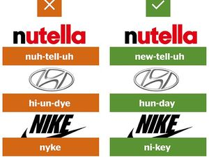 Are you saying these brand names wrong?