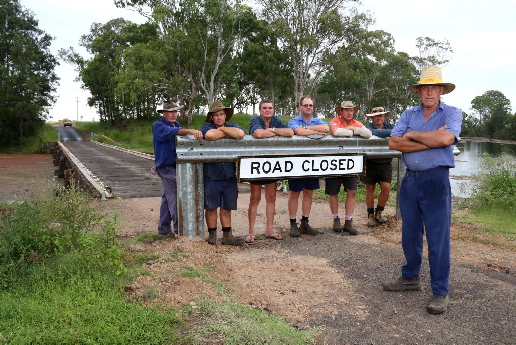 ROAD TO RUIN: Croppers farming properties on both sides of Barambah Creek face 50km round trips to check irrugation equipment with the Campbells Rd Bridge closed. Photo Tessa Mapstone / South Burnett Times