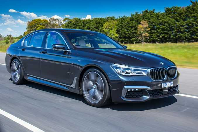 The luxurious BMW 740i.
