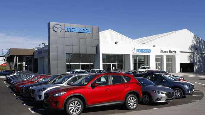ROOM TO MOVE: Shiny new showrooms for Mazda and Hyundai in Noosaville as former Bunnings site is open for business.