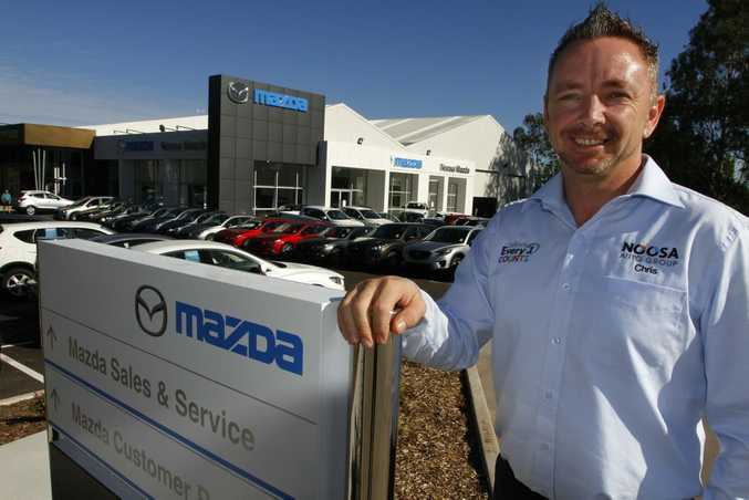 General Manager of Noosa Auto Group Chris Symes at the new Noosa Mazda showroom, Noosaville. Photo: Iain Curry / Sunshine Coast Daily
