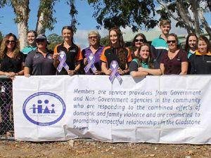 'Help us paint the town purple against violence'