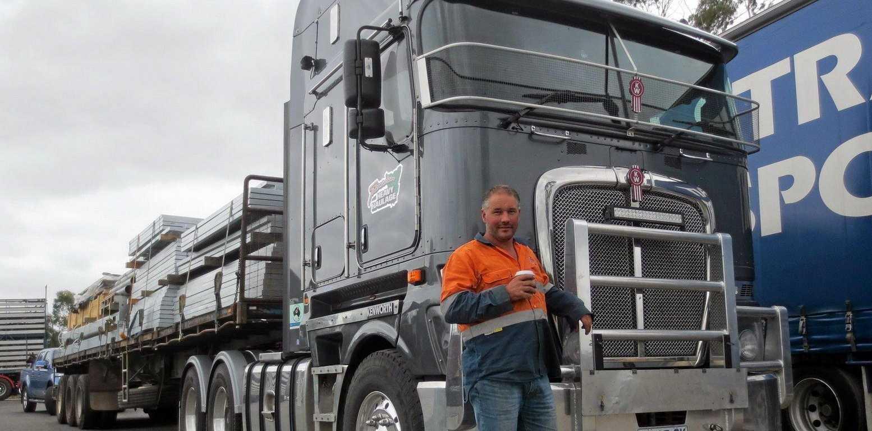 TASSIE TRUCKIN': 20 years later, Jamie Brooks still loves truckin'.