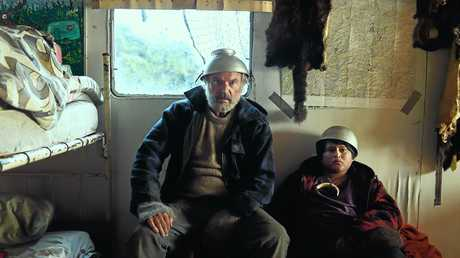 Sam Neill and Julian Dennison in a scene from the movie Hunt for the Wilderpeople.