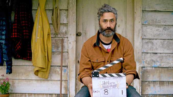 Director Taika Waititi pictured on the set of the movie Hunt for the Wilderpeople.