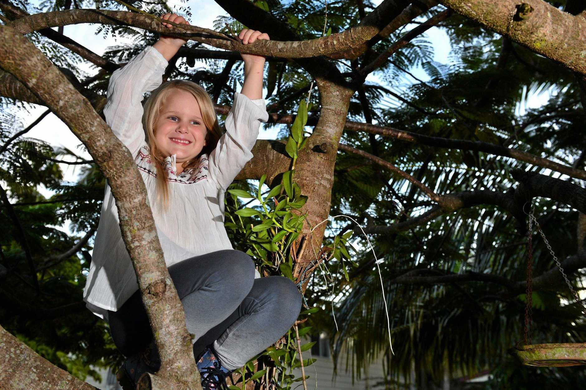 Six year old Rubi (CRCT) Bowen-Hamilton will take part in Miss Diamond Australia.  Photo: John McCutcheon / Sunshine Coast Daily