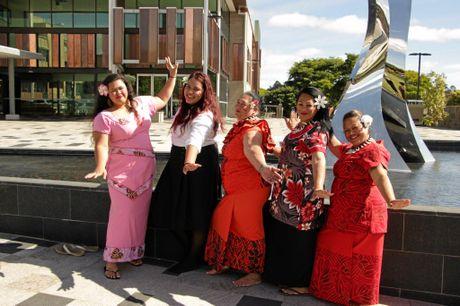 CELEBRATION: Samoan dancers (from left) Odessa Elisaia, Faiga Ene, Teresa Sialeipata, Rose Chong Nee and Maria Choing Nee help launch the festival.