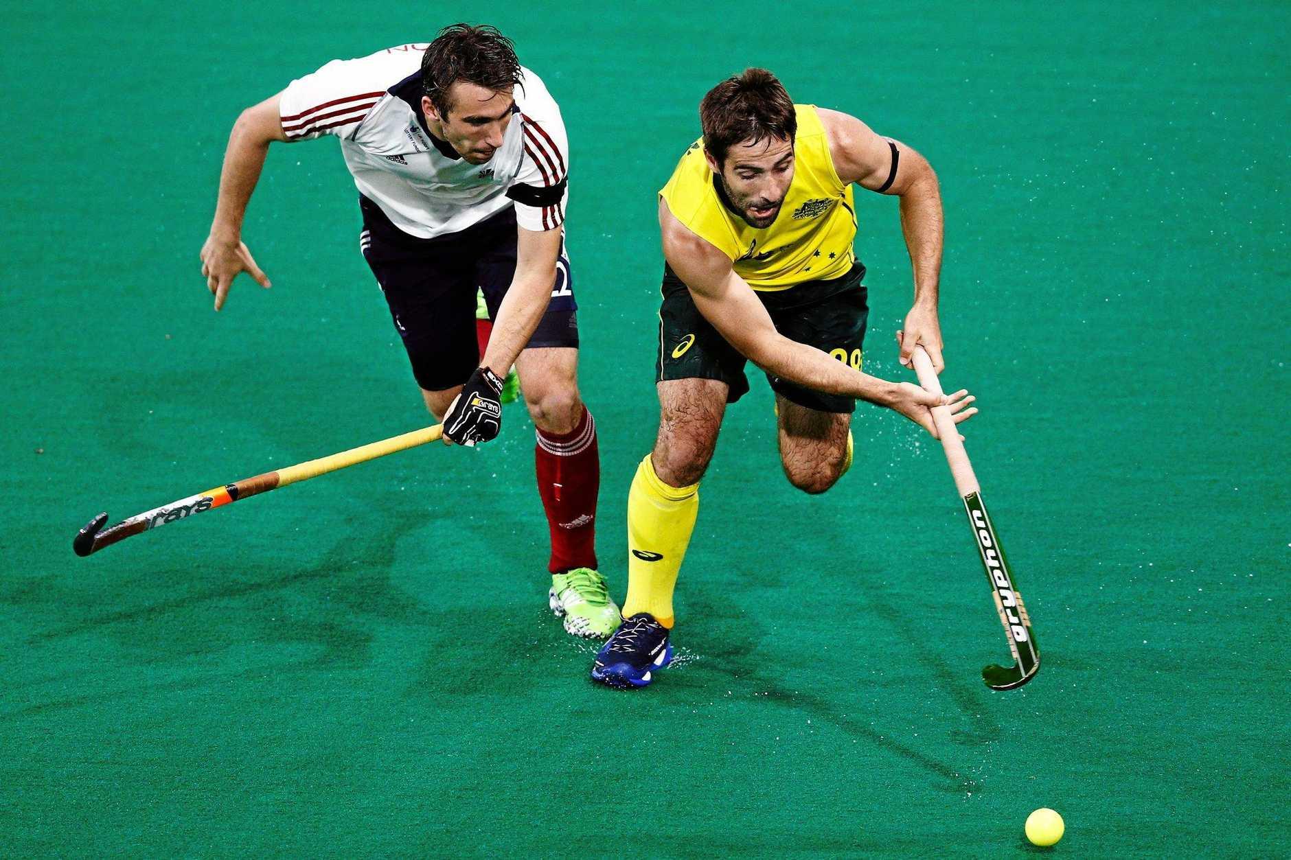 Kiel Brown in action for Australia.