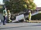 Ute rolls over in Toowoomba suburb