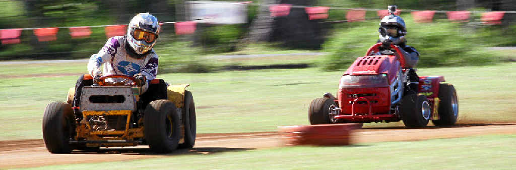 REVVED UP: There will be a full weekend of mower racing action at the Yaamba track this weekend as riders battle it out at the national championships.