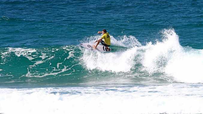 DECENT EFFORT: Connor Lyons at Coolum Beach.