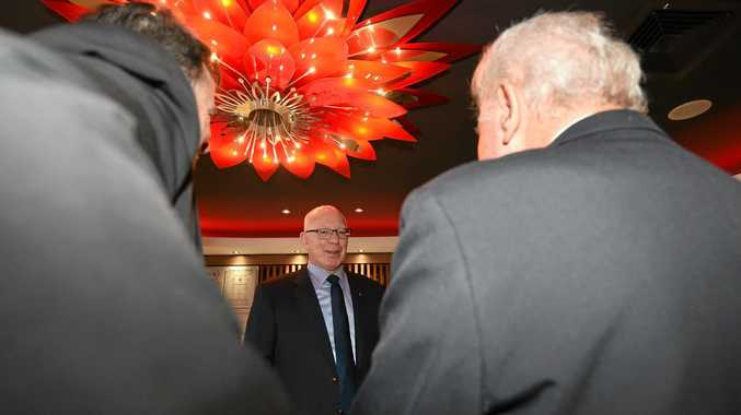 His Excellency General The Honourable David Hurley AC DSC (Ret'd) arrives at the Casino RSM as part of his tour of Casino. Photo Marc Stapelberg / The Northern Star