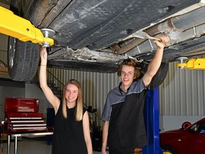 Siblings create DIY mechanical garage in Forest Glen