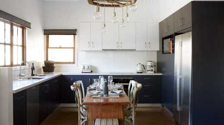 Luke and Cody Cook's renovated kitchen in a scene from House Rules.