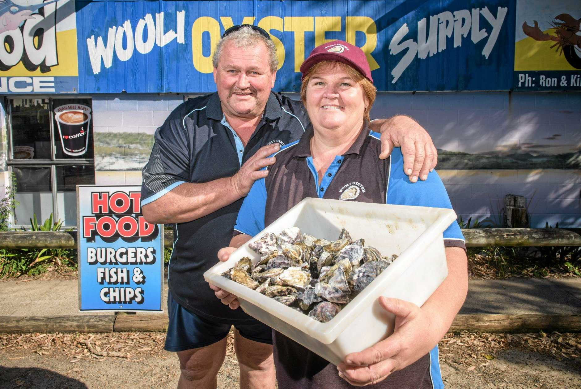 Ron and Jan Guinea of Wooli Oyster Supply have decided to keep it local and only sell oysters through shops in Wooli.