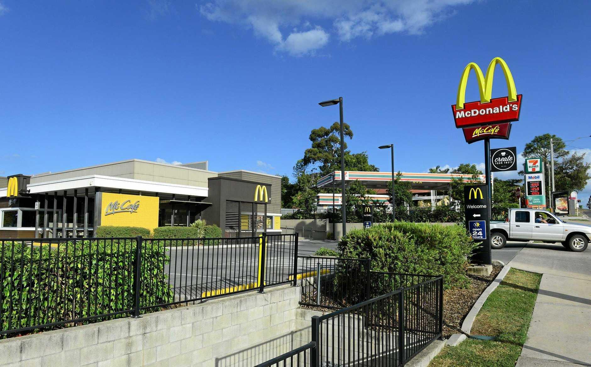 The McDonald's restaurant on Redbank Plains Road, Bellbird Park was the scene of a large disturbance late on Saturday night.