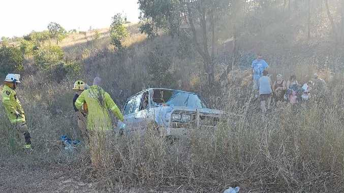 BADLY INJURED:: A man is fighting for his life after a freak crash at Ripley.